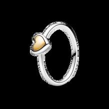 Domed Golden Heart Ring