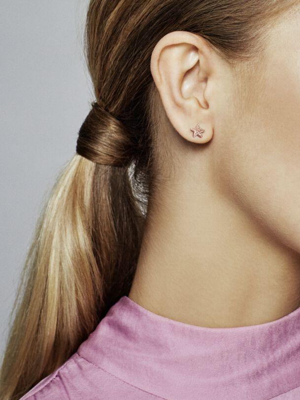 Beaded Starfish Stud Earrings