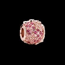 Pink Pavé Daisy Flower Charm