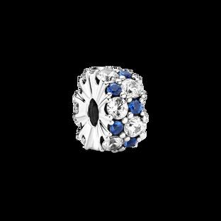 Clear & Blue Sparkling Clip Charm