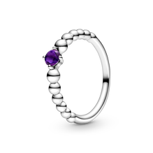 Purple Beaded リング