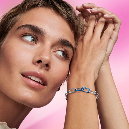 Pandora ME Styling Electric Blue Double Link