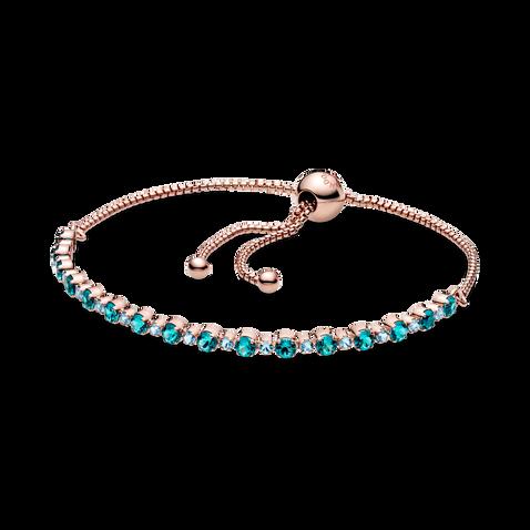 Turquoise Sparkling Slider Tennis Bracelet