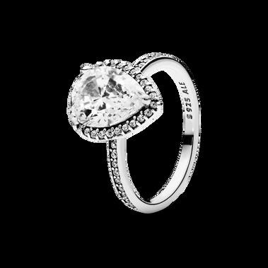 Sparkling Teardrop Ring