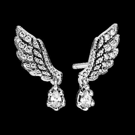 Dangling Angel Wing スタッド ピアス