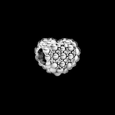 Beaded Sparkling Heart チャーム