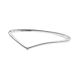 Polished Wishbone Bangle