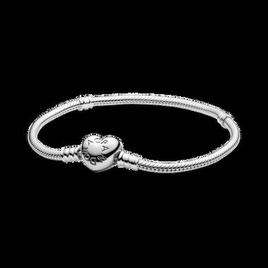 Moments Heart & Snake Chain Bracelet
