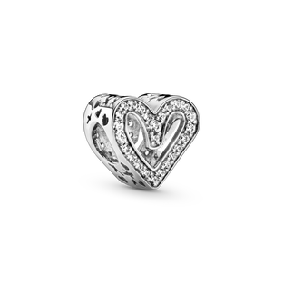 Sparkling Freehand Heart チャーム