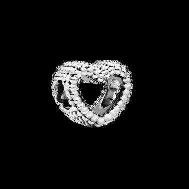 Beaded Open Heart Charm