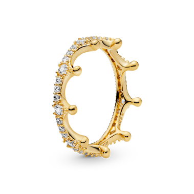Clear Sparkling Crown Ring