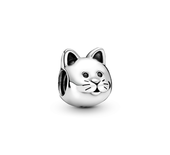Cat silver charm