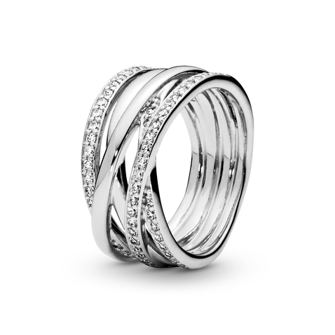 Sparkling & Polished Lines Ring