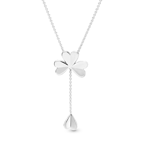 Lucky Four-Leaf Clover Y-Necklace