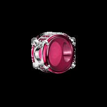 Fuchsia Rose Oval Cabochon Charm