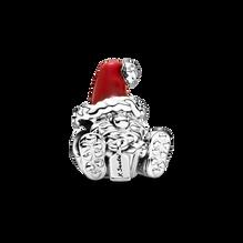 Seated Santa Claus & Present Charm