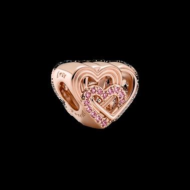 Intertwined Love Hearts Charm