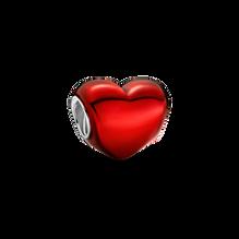 Metallic Red Heart Charm
