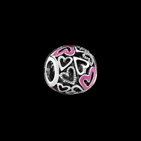 Pink Openwork Freehand Heart チャーム