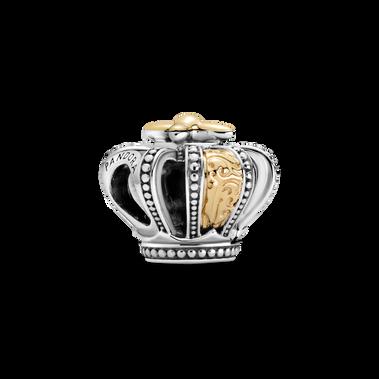 Two-tone Regal Crown Charm