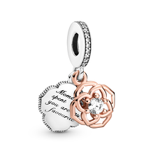 Two-tone Rose Dangle Charm