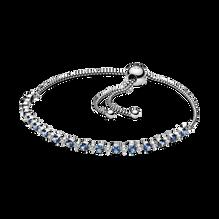 Blue & Clear Sparkle & Slider ブレスレット