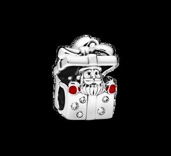 Santa in a Giftbox チャーム