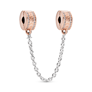 Pandora Logo Safety Chain Clip Charm
