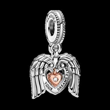 Pandora Club 2021 Angel Wings & Heart Dangle Charm