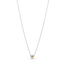 Domed Golden Heart Collier Necklace