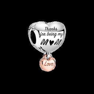 Love You Mum Heart Charm