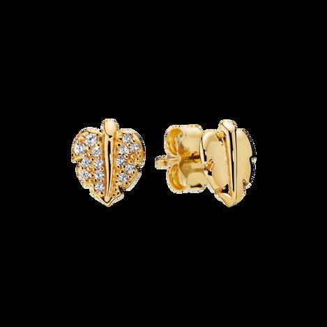Shining & Sparkling Leaf Stud Earrings