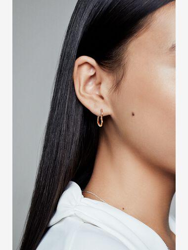 Asymmetric Heart Hoop Earrings