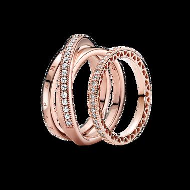 Pandora Signature Sparkle Ring Set