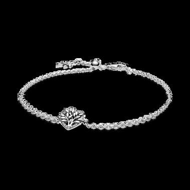 Heart Family Tree Chain Bracelet