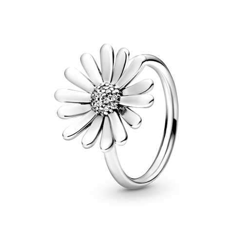 Pavé Daisy Flower Statement Ring