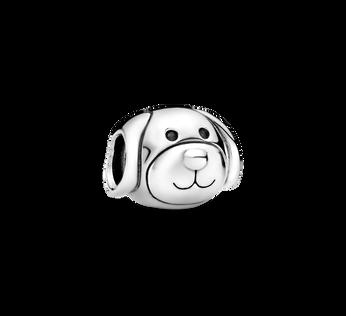 Dog silver charm