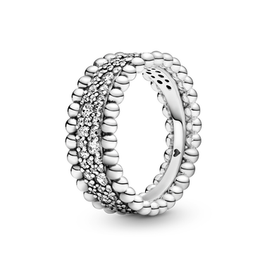 Beaded Pavé Band リング