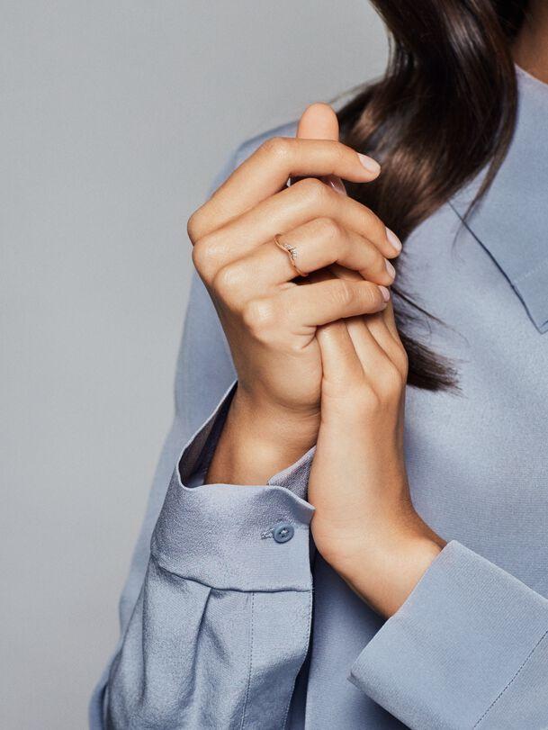 Tiara Wishbone Ring